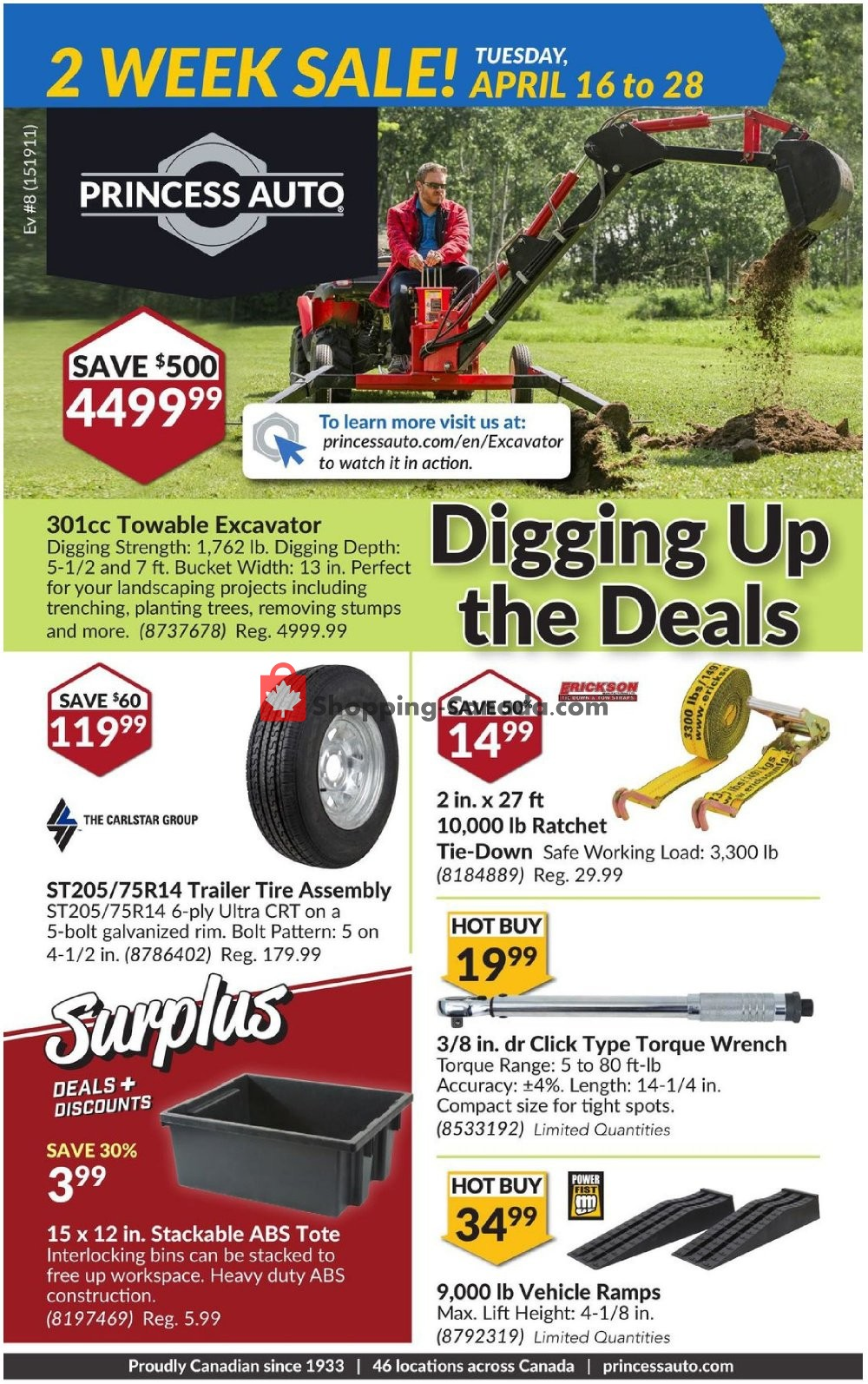 Flyer Princess Auto Canada - from Tuesday April 16, 2019 to Sunday April 28, 2019