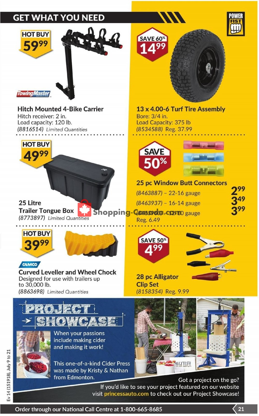 Flyer Princess Auto Canada - from Tuesday July 9, 2019 to Sunday July 21, 2019