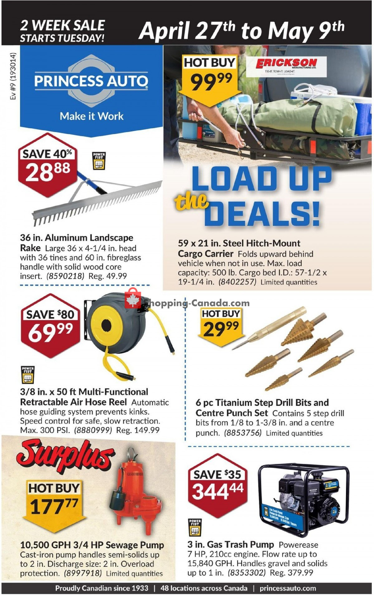 Flyer Princess Auto Canada - from Tuesday April 27, 2021 to Sunday May 9, 2021