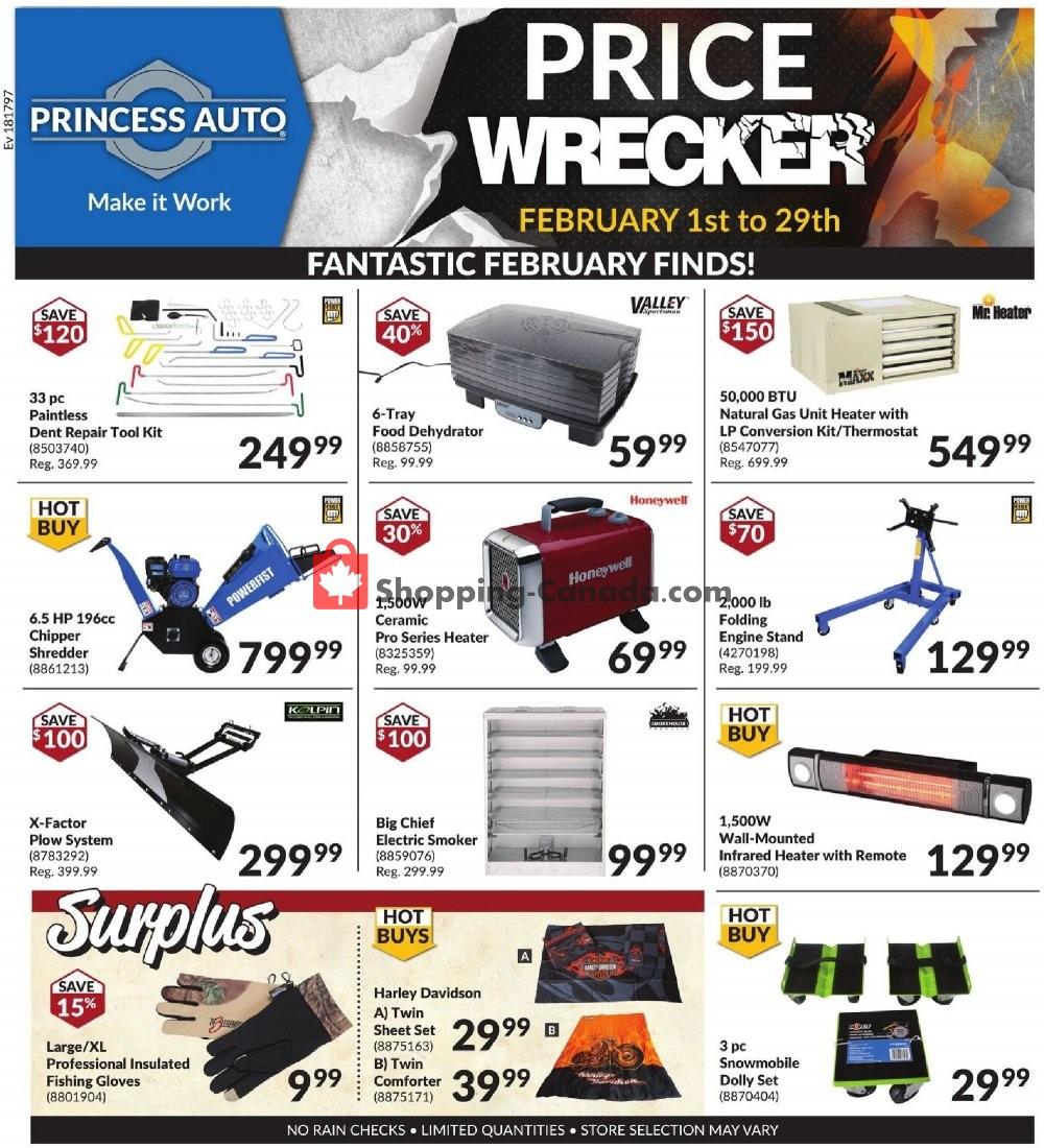 Flyer Princess Auto Canada - from Saturday February 1, 2020 to Saturday February 29, 2020