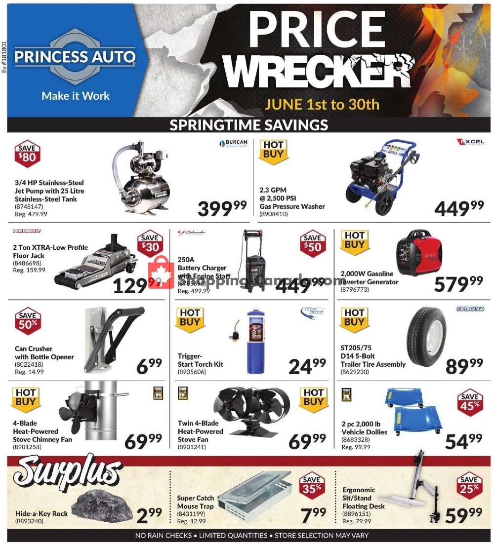 Flyer Princess Auto Canada - from Monday June 1, 2020 to Tuesday June 30, 2020
