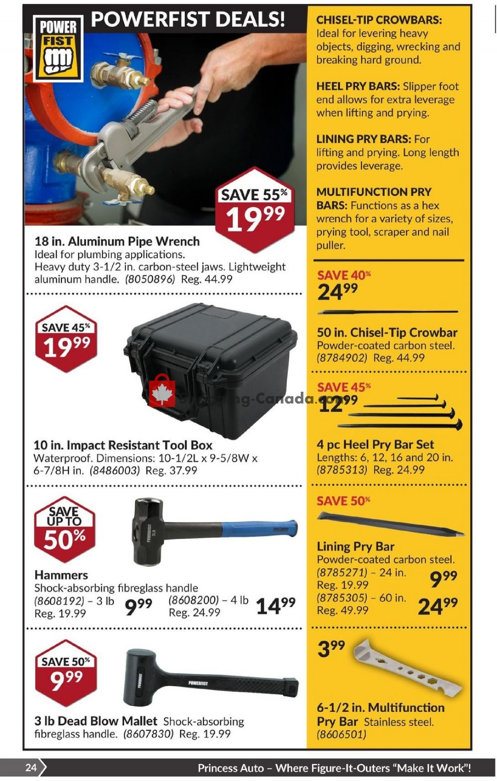 Flyer Princess Auto Canada - from Tuesday July 23, 2019 to Sunday August 4, 2019