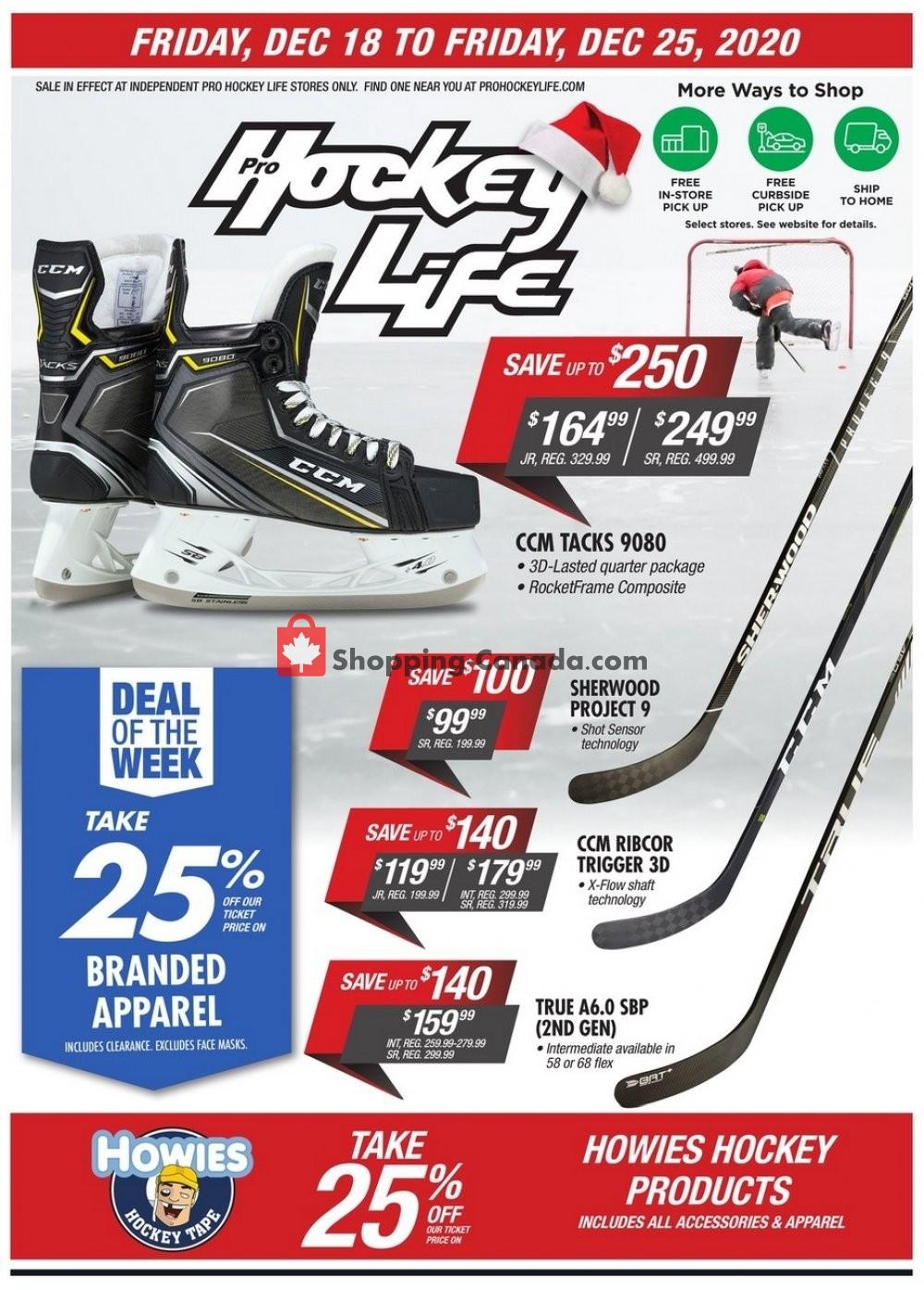 Flyer Pro Hockey Life Canada - from Friday December 18, 2020 to Friday December 25, 2020