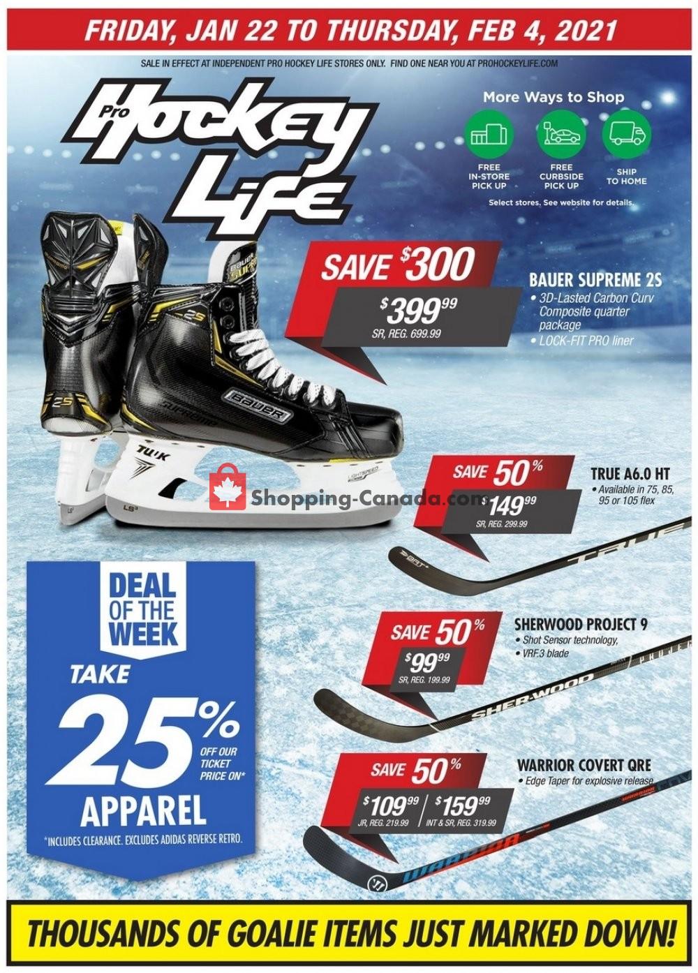 Flyer Pro Hockey Life Canada - from Friday January 22, 2021 to Thursday February 4, 2021