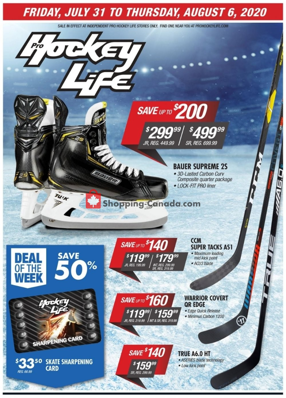 Flyer Pro Hockey Life Canada - from Friday July 31, 2020 to Thursday August 6, 2020