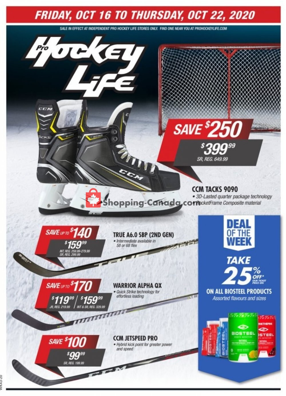 Flyer Pro Hockey Life Canada - from Friday October 16, 2020 to Thursday October 22, 2020
