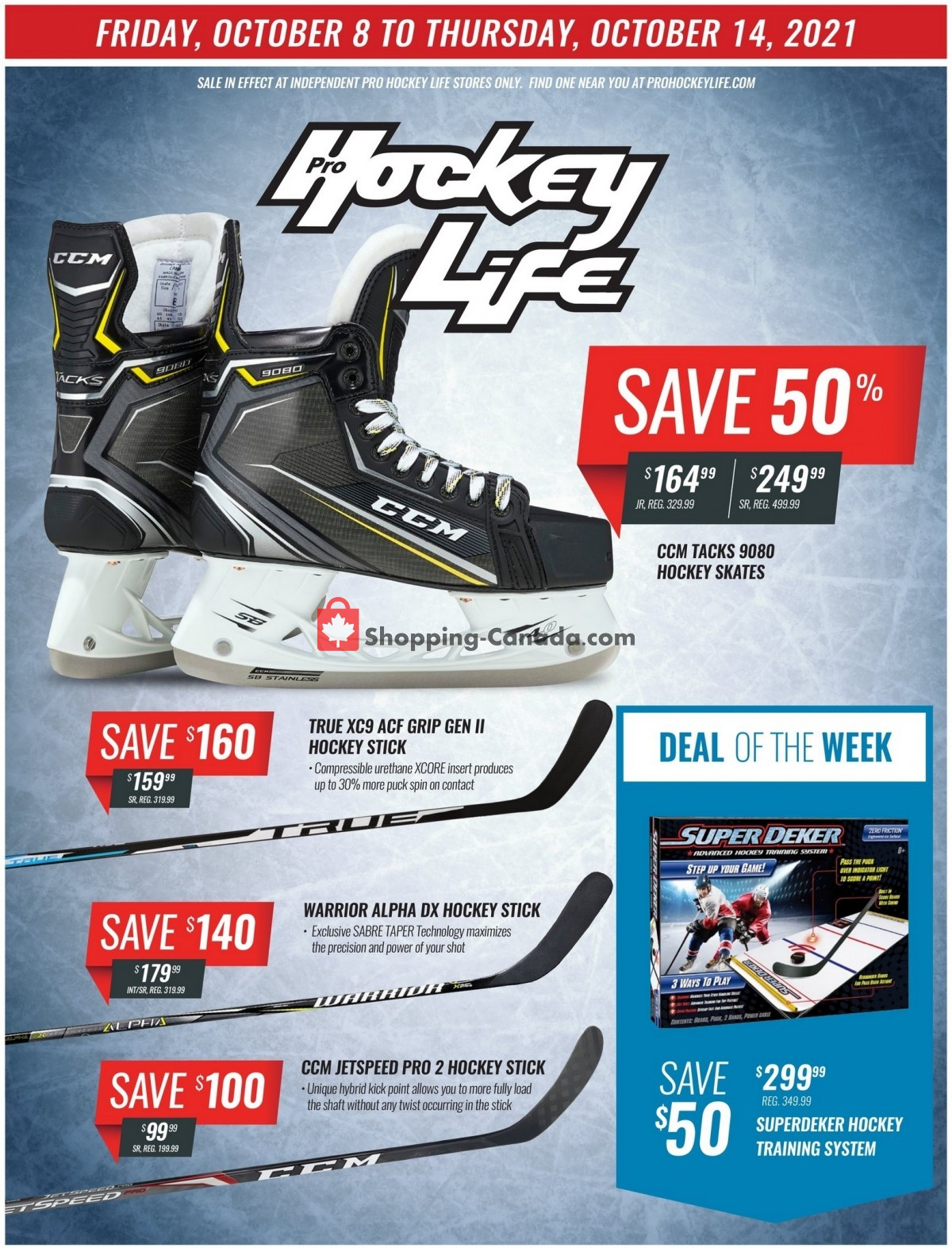 Flyer Pro Hockey Life Canada - from Friday October 8, 2021 to Thursday October 14, 2021