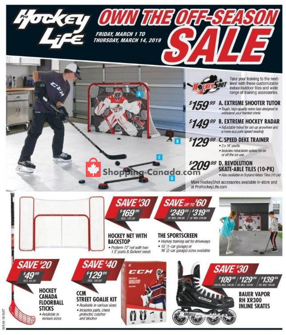 Flyer Pro Hockey Life Canada - from Friday March 1, 2019 to Thursday March 14, 2019