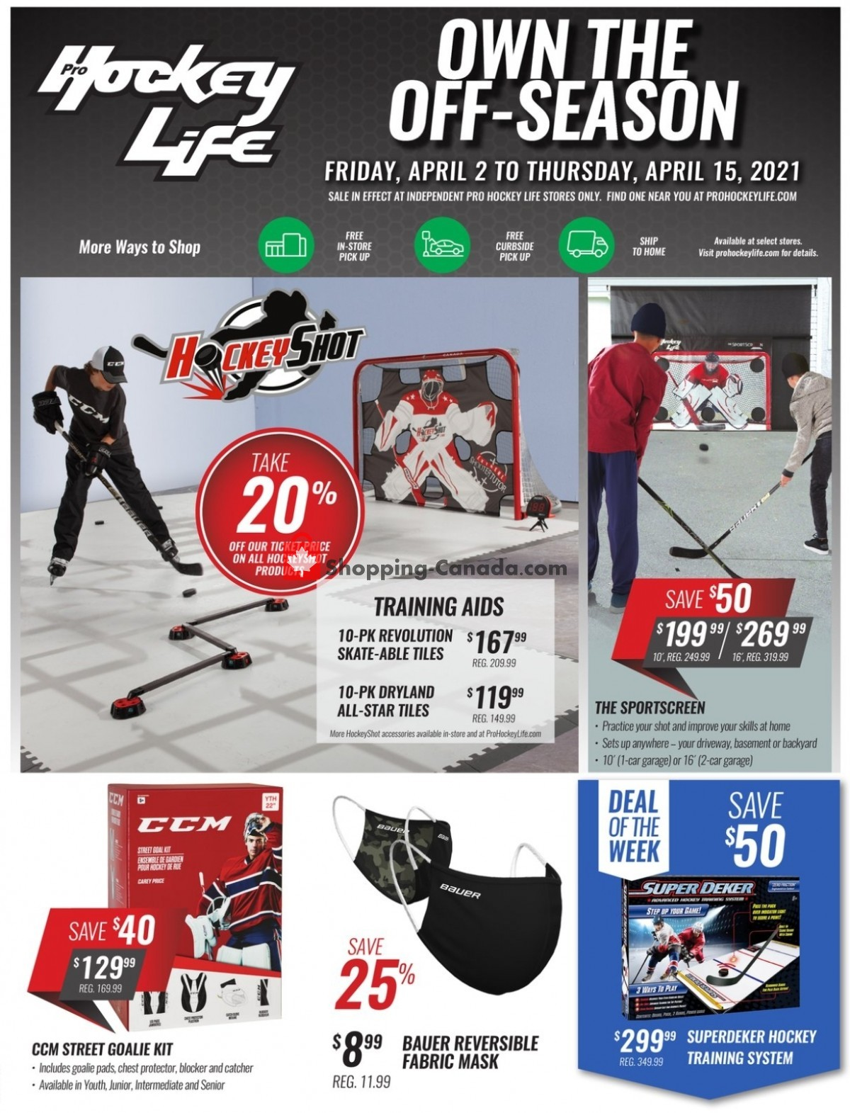 Flyer Pro Hockey Life Canada - from Friday April 2, 2021 to Thursday April 15, 2021