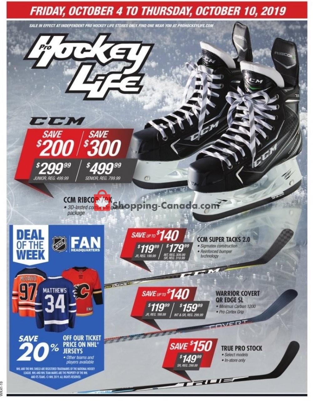 Flyer Pro Hockey Life Canada - from Friday October 4, 2019 to Thursday October 10, 2019