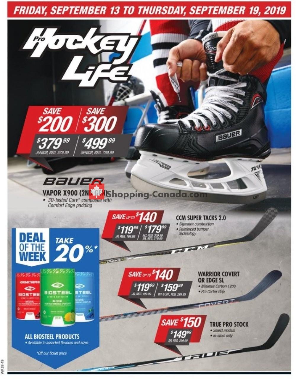 Flyer Pro Hockey Life Canada - from Friday September 13, 2019 to Thursday September 19, 2019