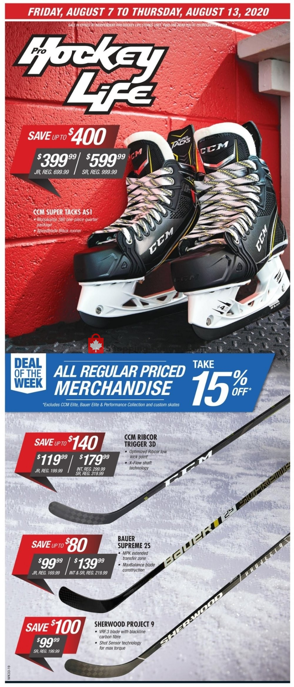 Flyer Pro Hockey Life Canada - from Friday August 7, 2020 to Thursday August 13, 2020