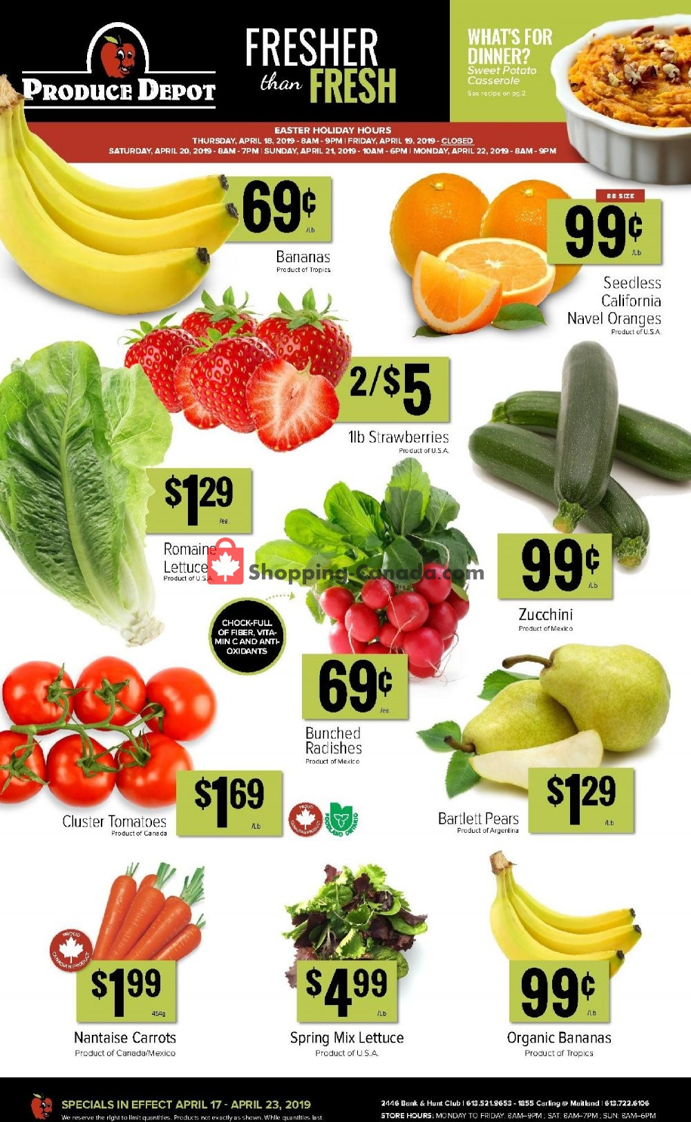 Flyer Produce Depot Canada - from Wednesday April 17, 2019 to Tuesday April 23, 2019