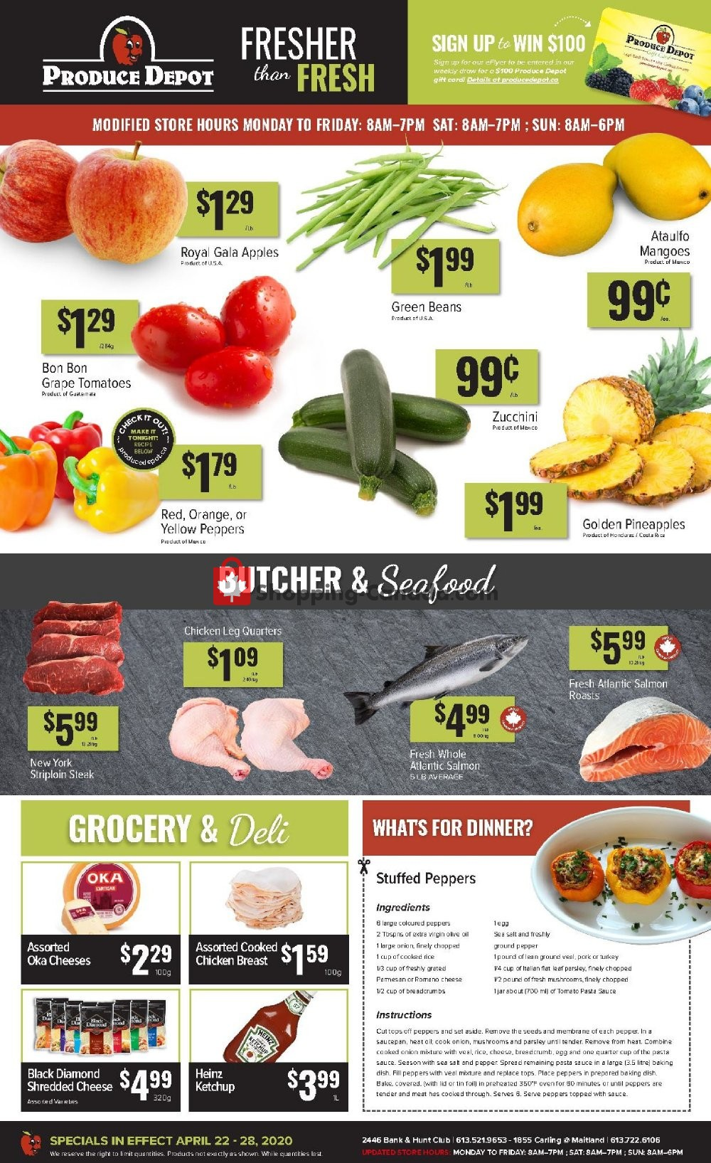 Flyer Produce Depot Canada - from Wednesday April 22, 2020 to Tuesday April 28, 2020