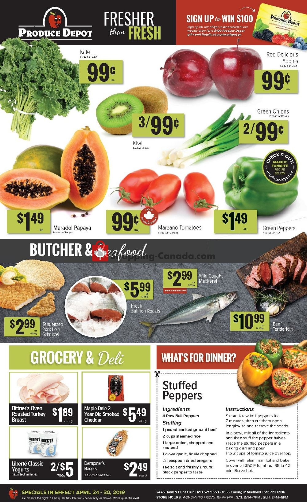 Flyer Produce Depot Canada - from Wednesday April 24, 2019 to Tuesday April 30, 2019