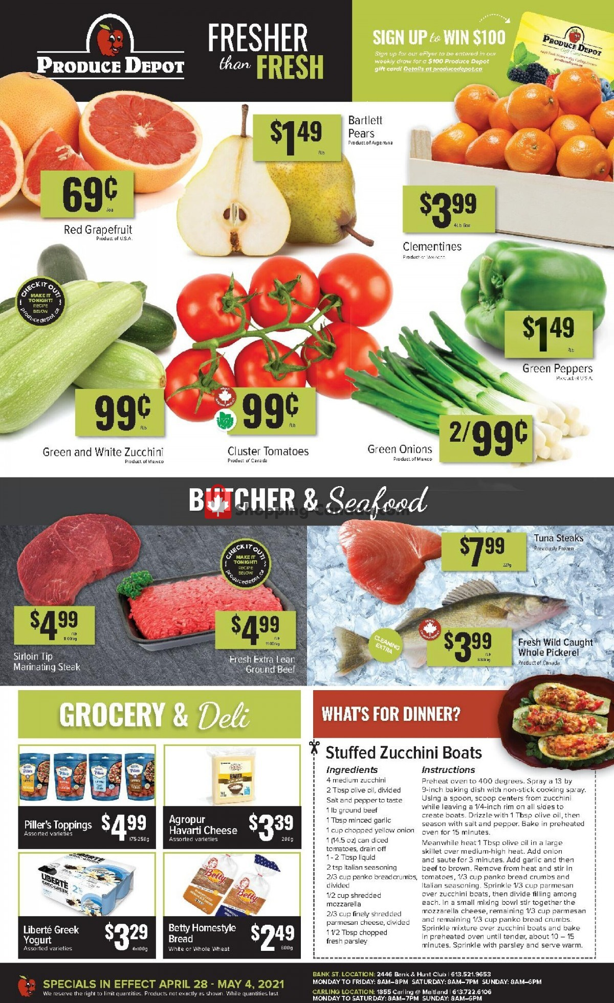 Flyer Produce Depot Canada - from Wednesday April 28, 2021 to Tuesday May 4, 2021
