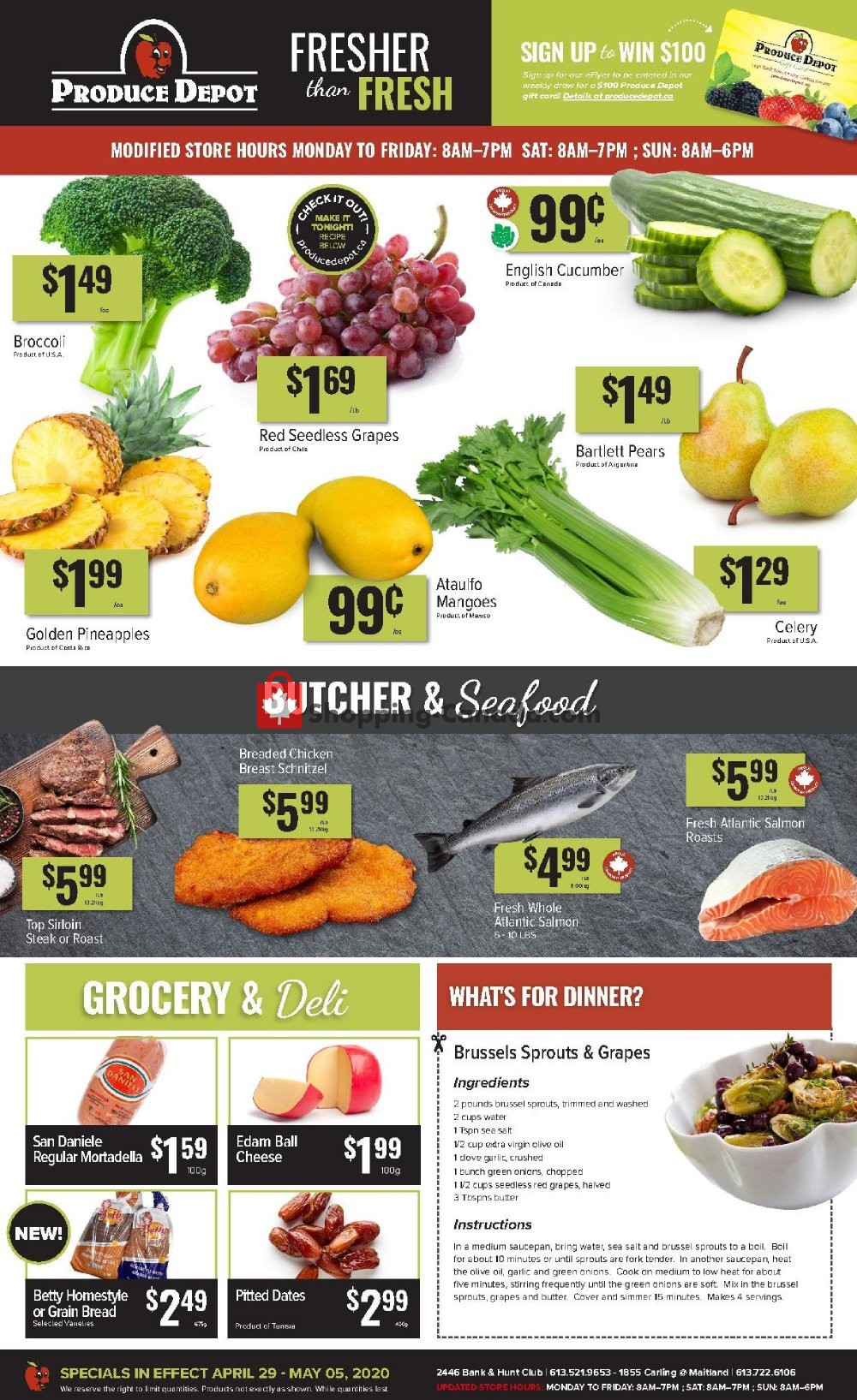 Flyer Produce Depot Canada - from Wednesday April 29, 2020 to Tuesday May 5, 2020