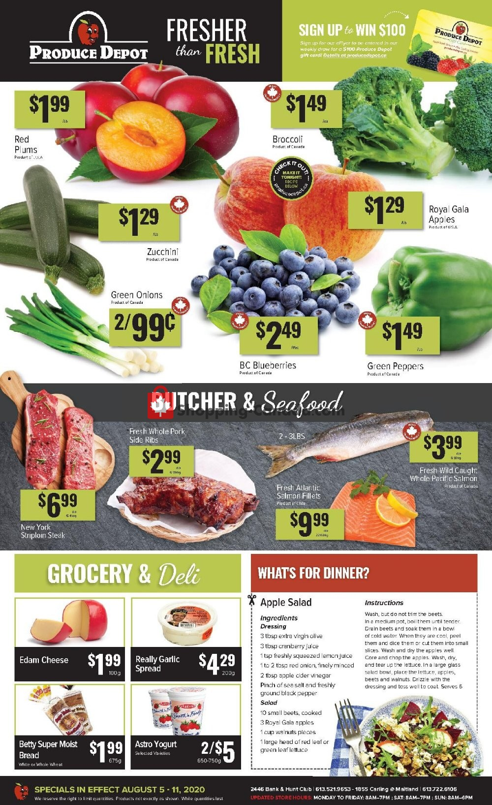 Flyer Produce Depot Canada - from Wednesday August 5, 2020 to Tuesday August 11, 2020
