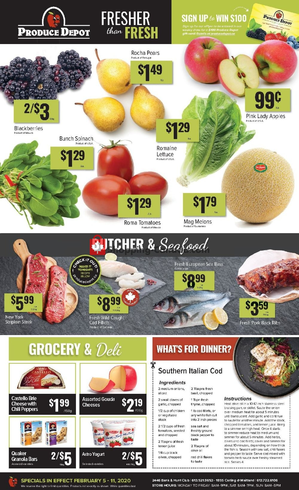 Flyer Produce Depot Canada - from Wednesday February 5, 2020 to Tuesday February 11, 2020