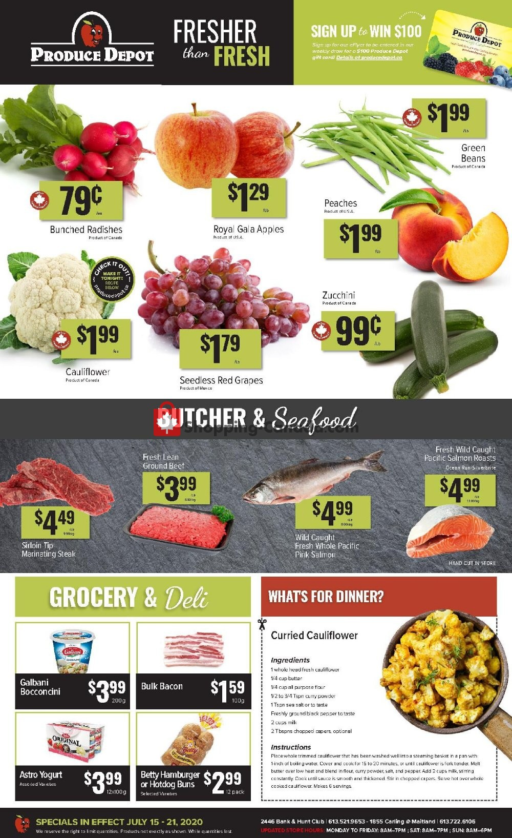 Flyer Produce Depot Canada - from Wednesday July 15, 2020 to Tuesday July 21, 2020