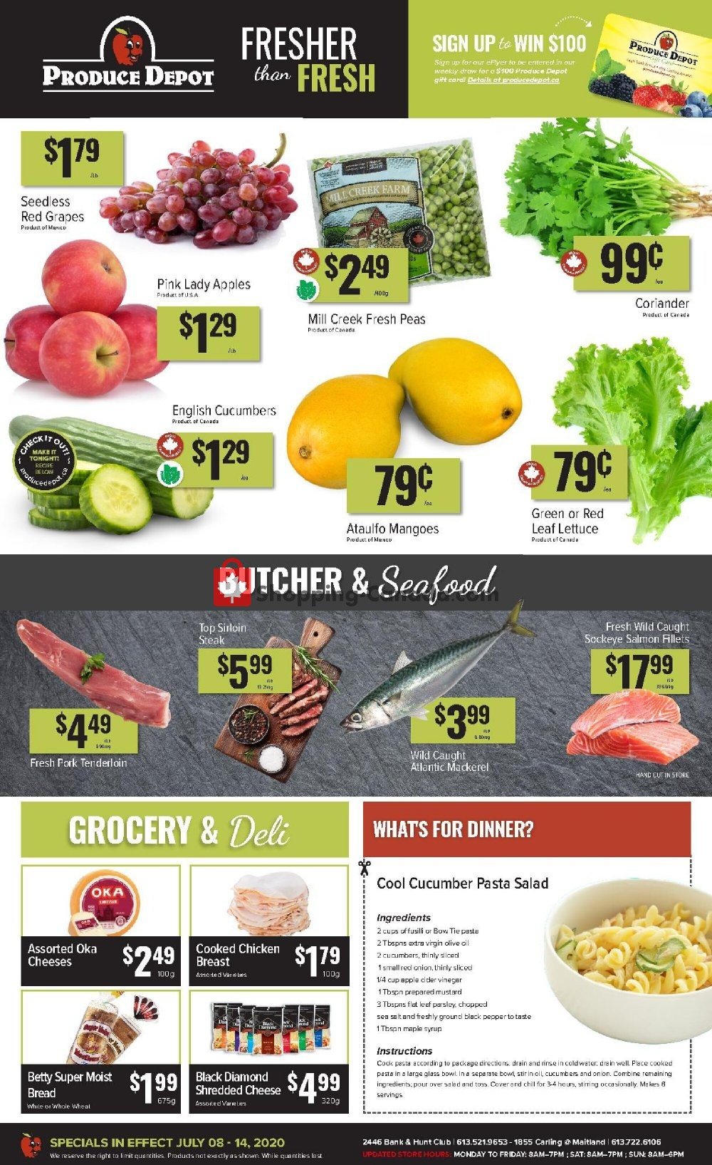 Flyer Produce Depot Canada - from Wednesday July 8, 2020 to Tuesday July 14, 2020