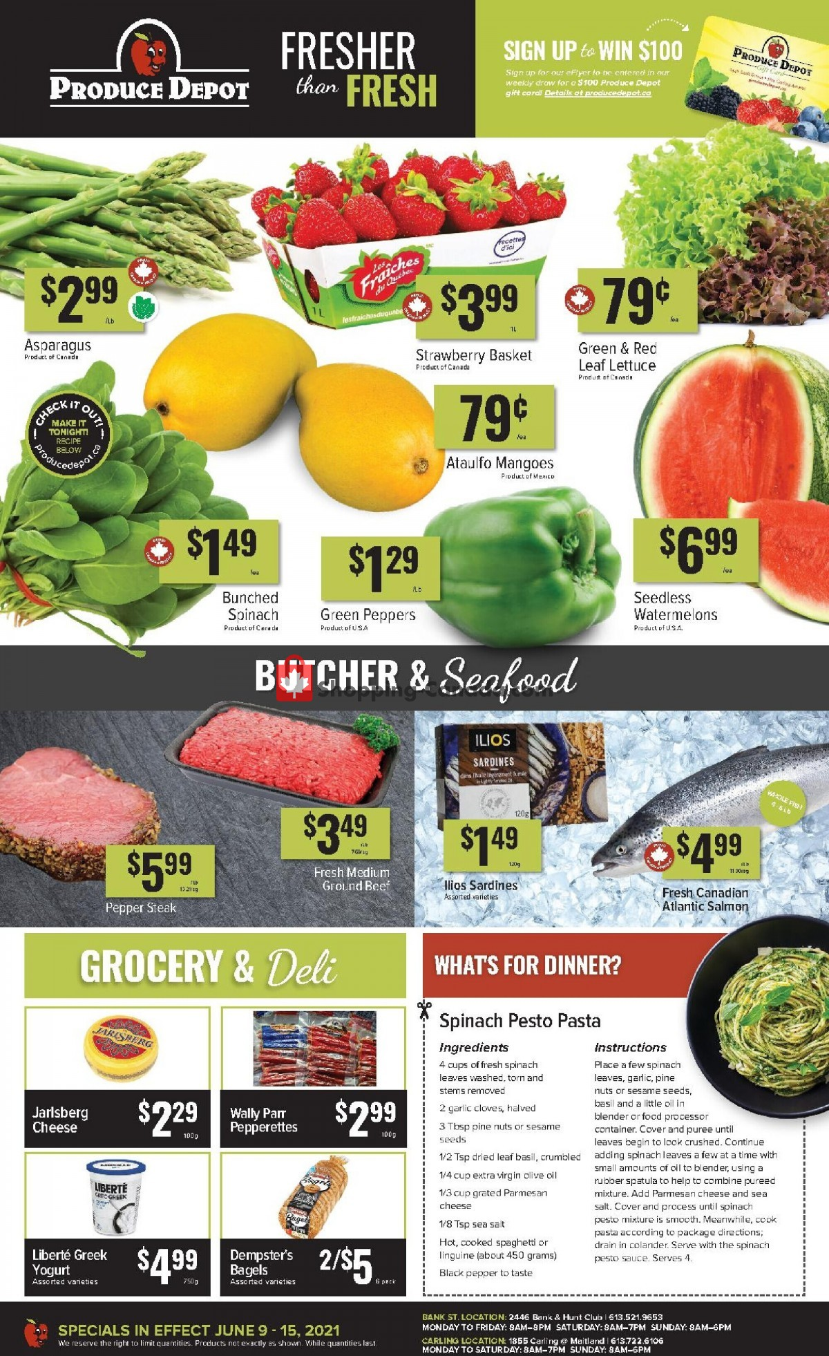 Flyer Produce Depot Canada - from Wednesday June 9, 2021 to Tuesday June 15, 2021