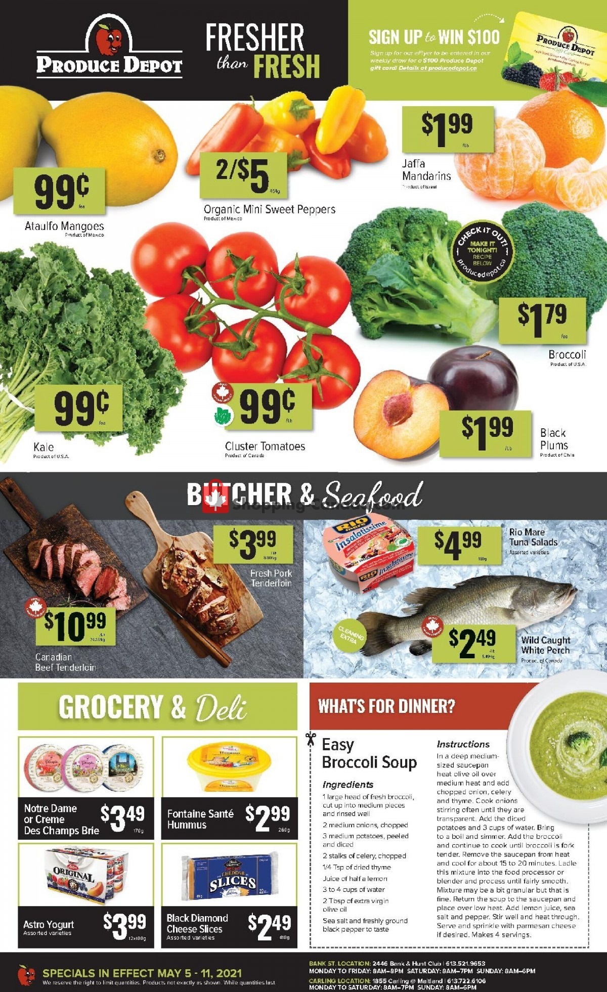 Flyer Produce Depot Canada - from Wednesday May 5, 2021 to Tuesday May 11, 2021