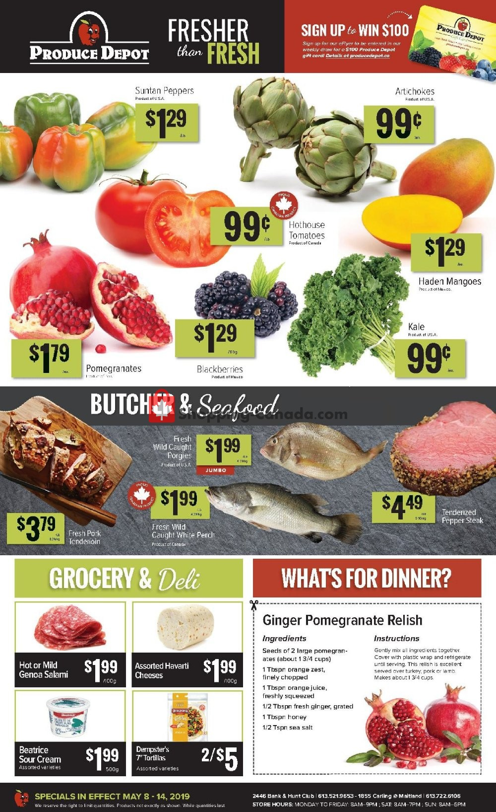 Flyer Produce Depot Canada - from Wednesday May 8, 2019 to Tuesday May 14, 2019