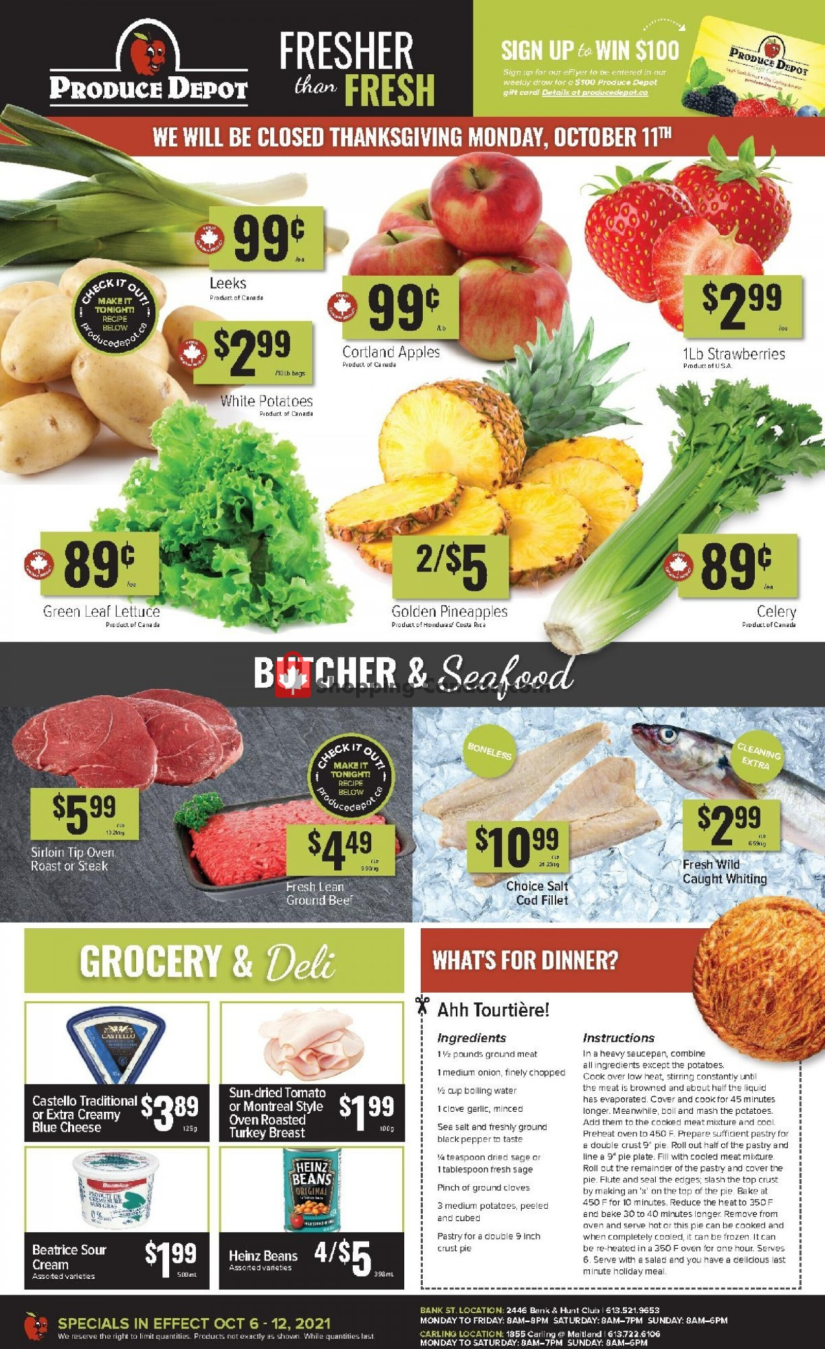 Flyer Produce Depot Canada - from Wednesday October 6, 2021 to Tuesday October 12, 2021