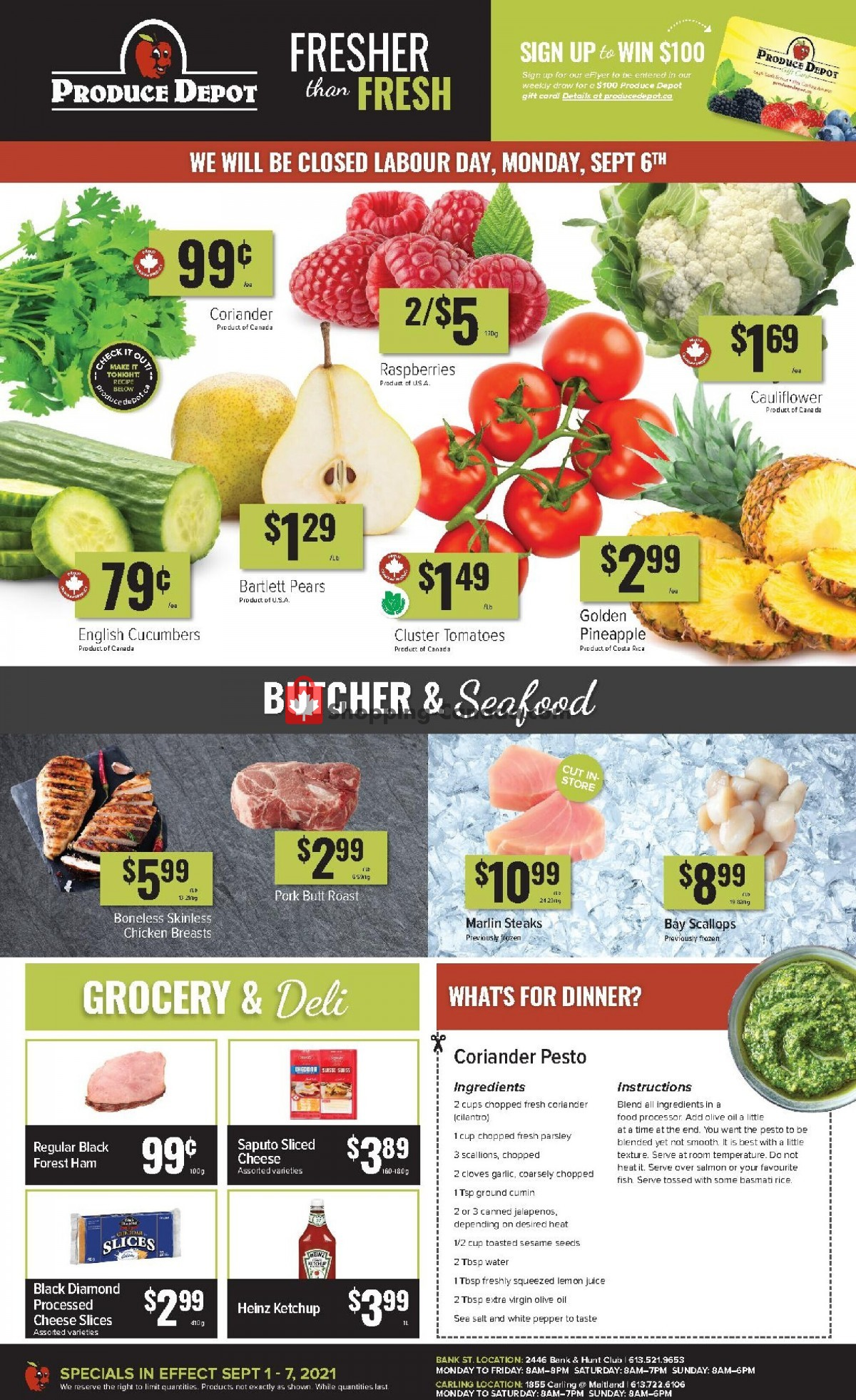 Flyer Produce Depot Canada - from Wednesday September 1, 2021 to Tuesday September 7, 2021