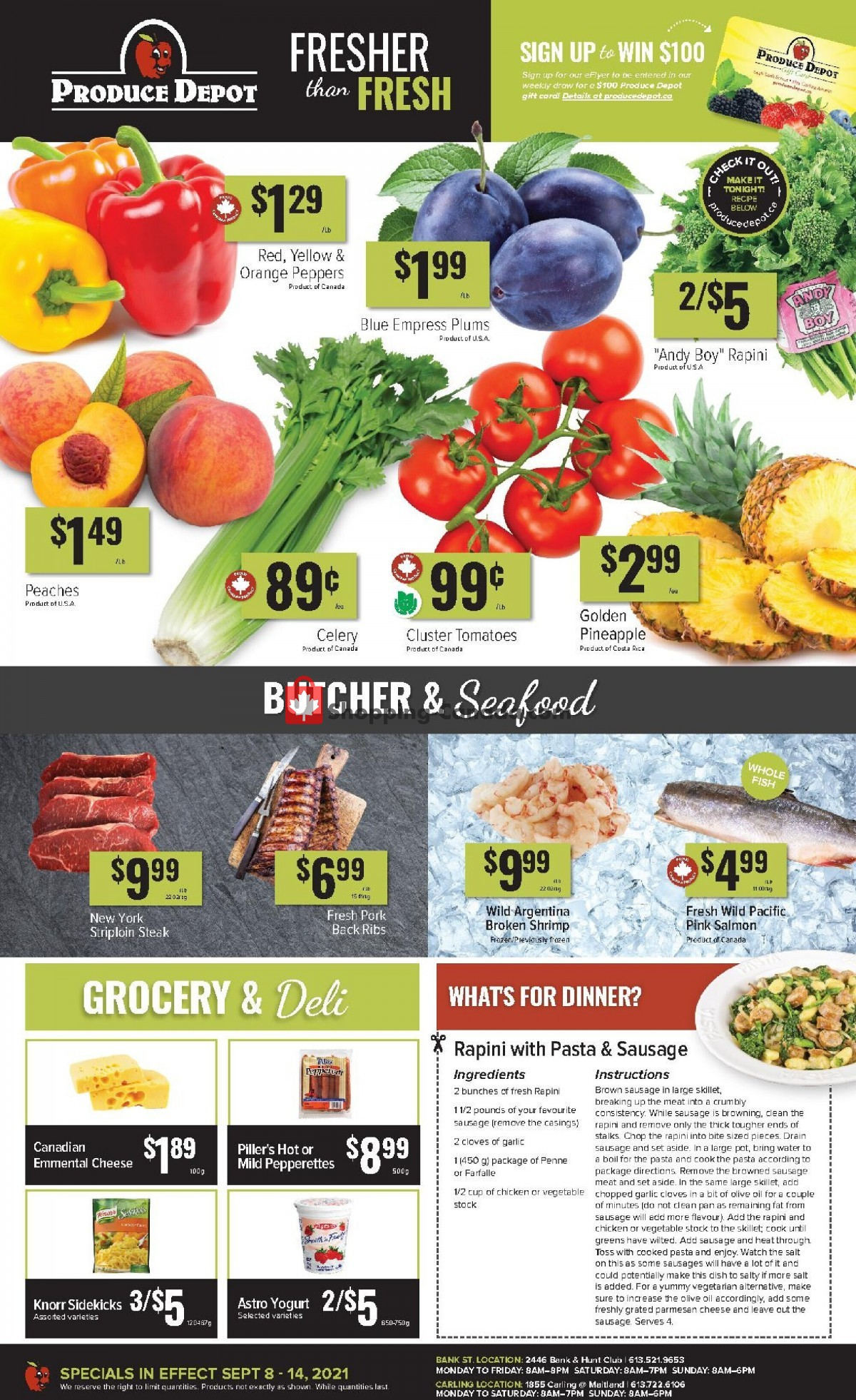 Flyer Produce Depot Canada - from Wednesday September 8, 2021 to Tuesday September 14, 2021