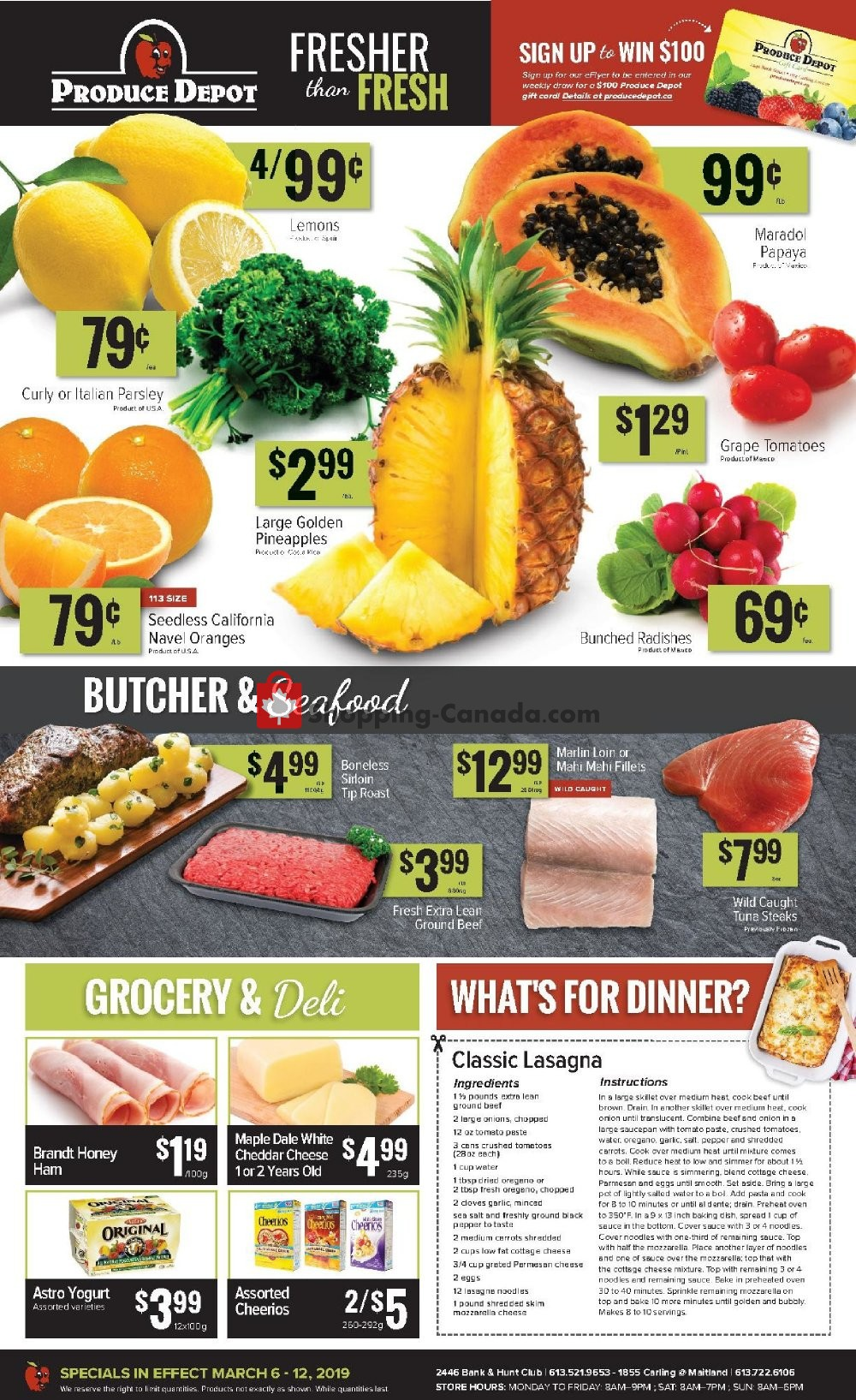 Flyer Produce Depot Canada - from Wednesday March 6, 2019 to Tuesday March 12, 2019