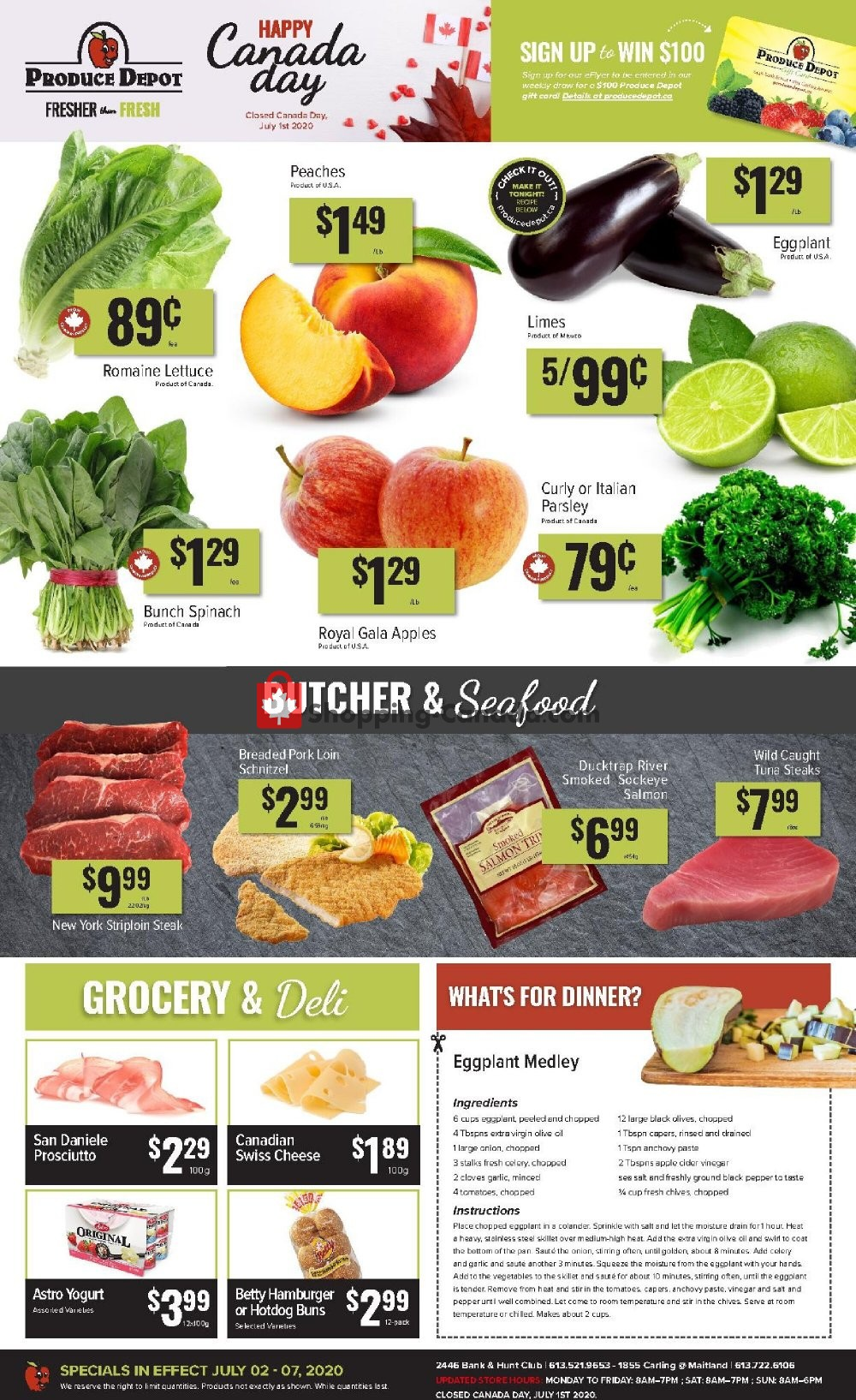 Flyer Produce Depot Canada - from Thursday July 2, 2020 to Tuesday July 7, 2020