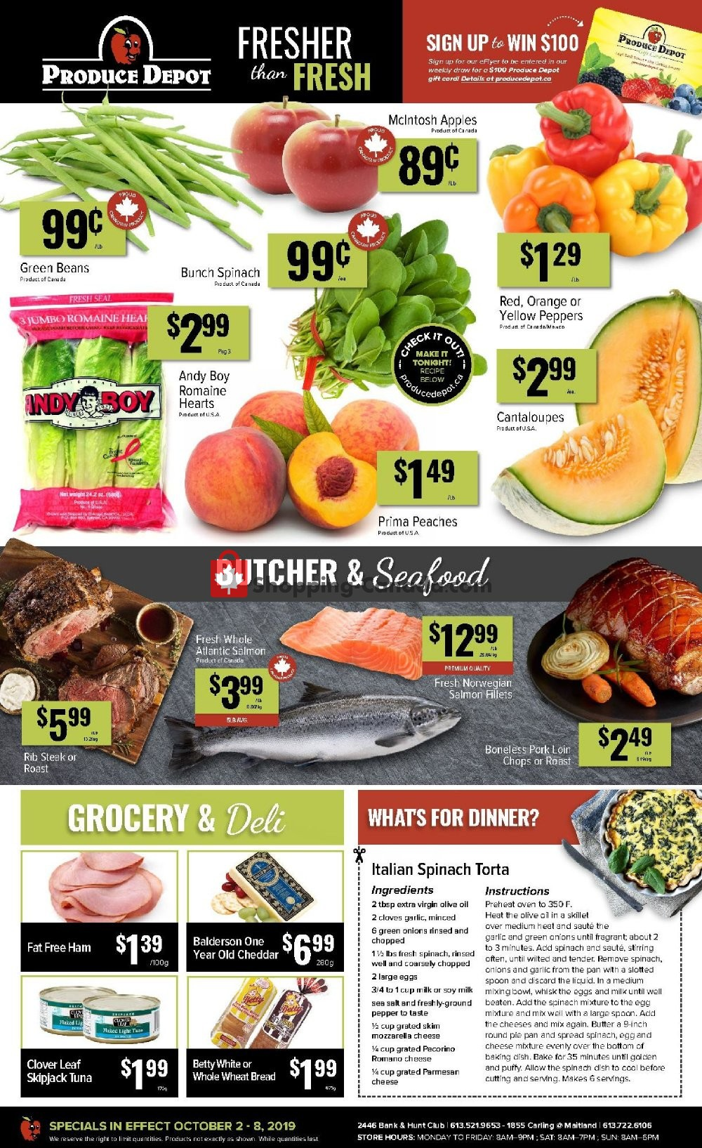 Flyer Produce Depot Canada - from Wednesday October 2, 2019 to Tuesday October 8, 2019