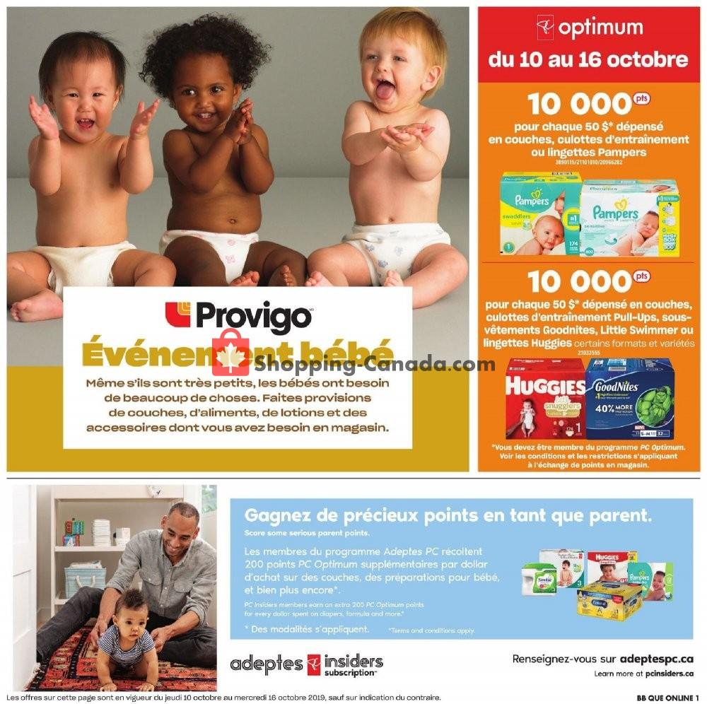 Flyer Provigo Canada - from Thursday October 10, 2019 to Wednesday October 16, 2019