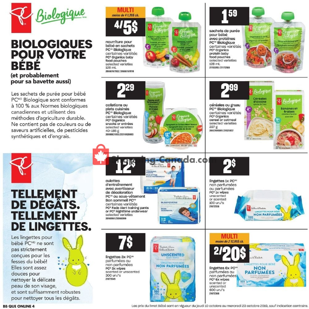 Flyer Provigo Canada - from Thursday October 10, 2019 to Wednesday October 16, 2019