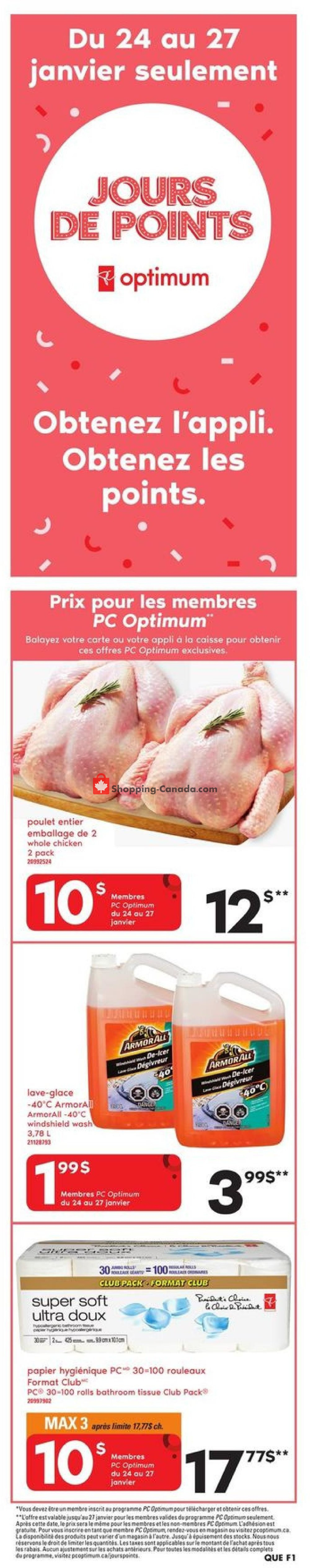 Flyer Provigo Canada - from Thursday January 24, 2019 to Wednesday January 30, 2019