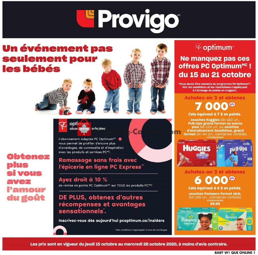 Flyer Provigo Canada - from Thursday October 15, 2020 to Wednesday October 28, 2020