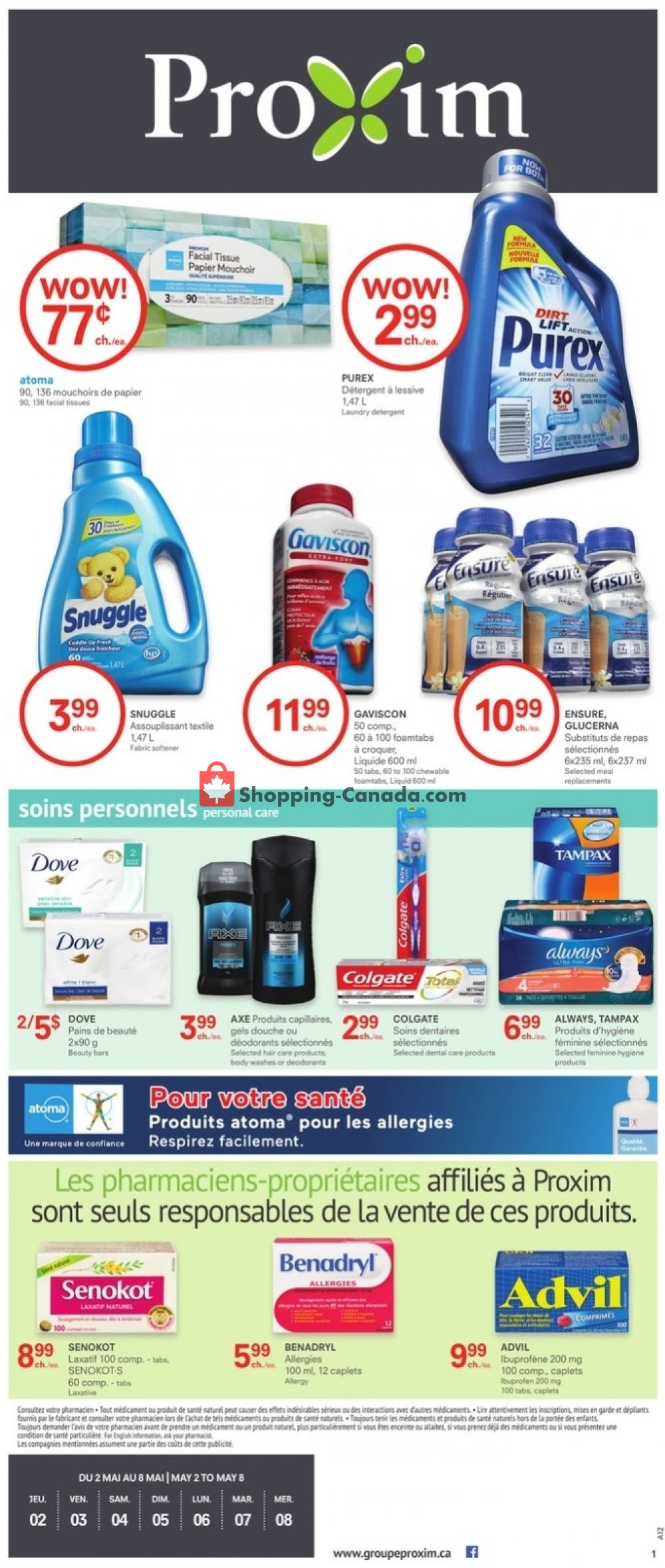 Flyer Proxim Canada - from Thursday May 2, 2019 to Wednesday May 8, 2019