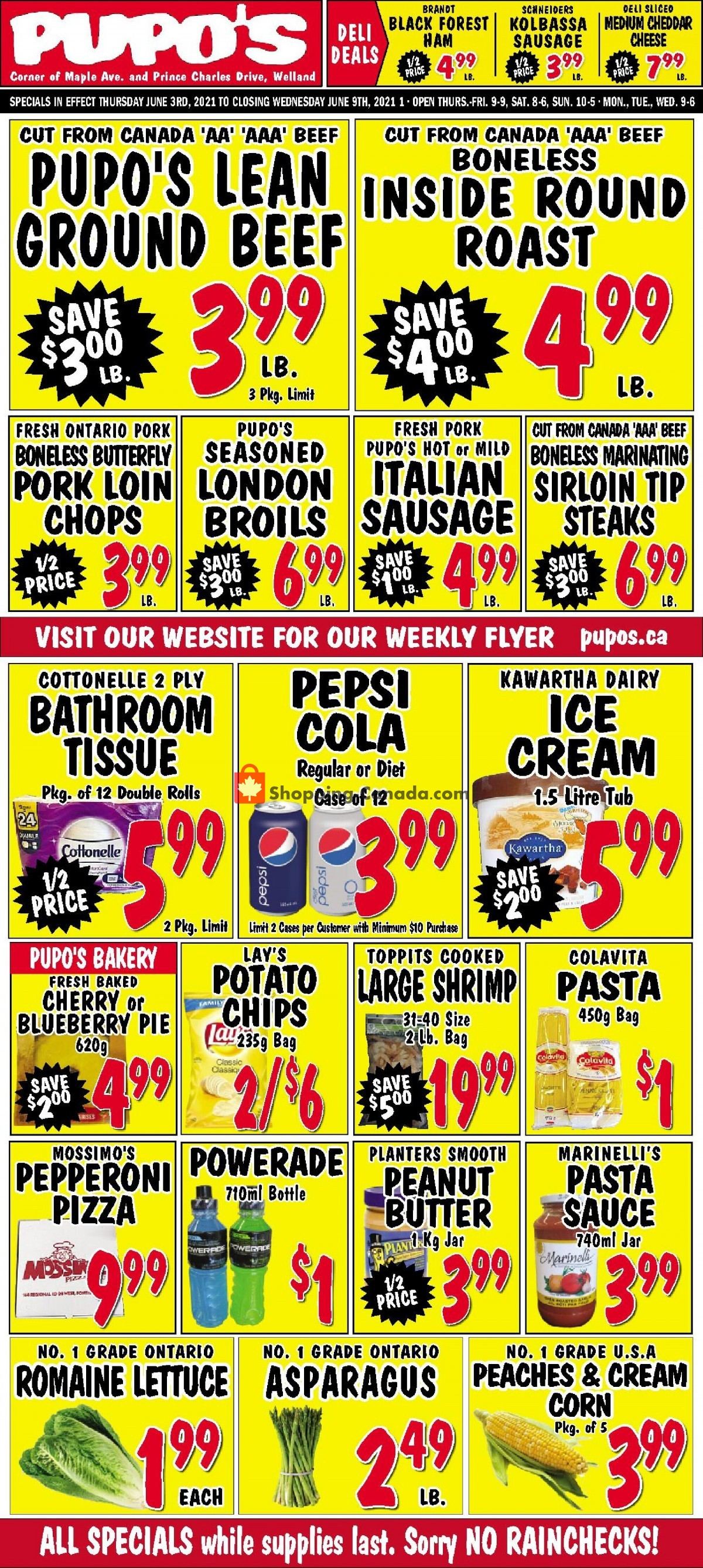 Flyer Pupo's Food Market Canada - from Thursday June 3, 2021 to Wednesday June 9, 2021