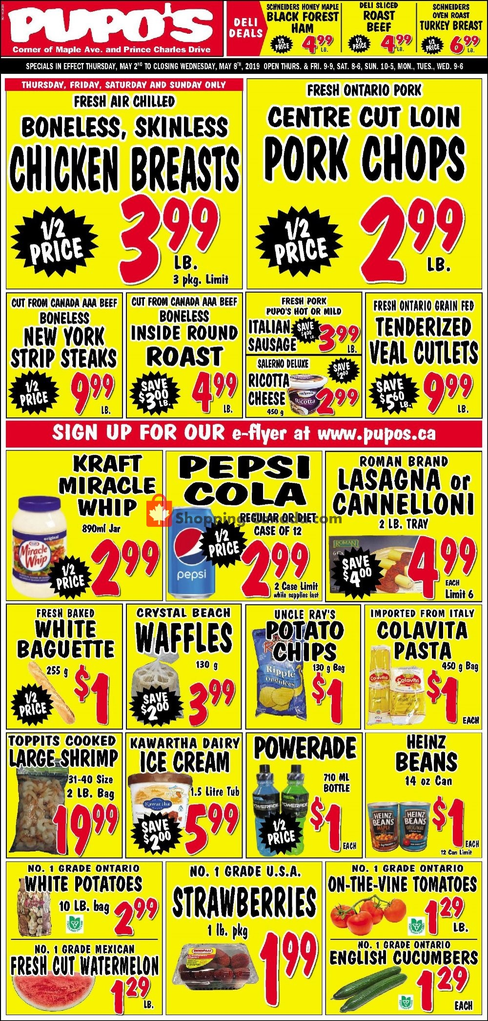 Flyer Pupo's Food Market Canada - from Thursday May 2, 2019 to Wednesday May 8, 2019
