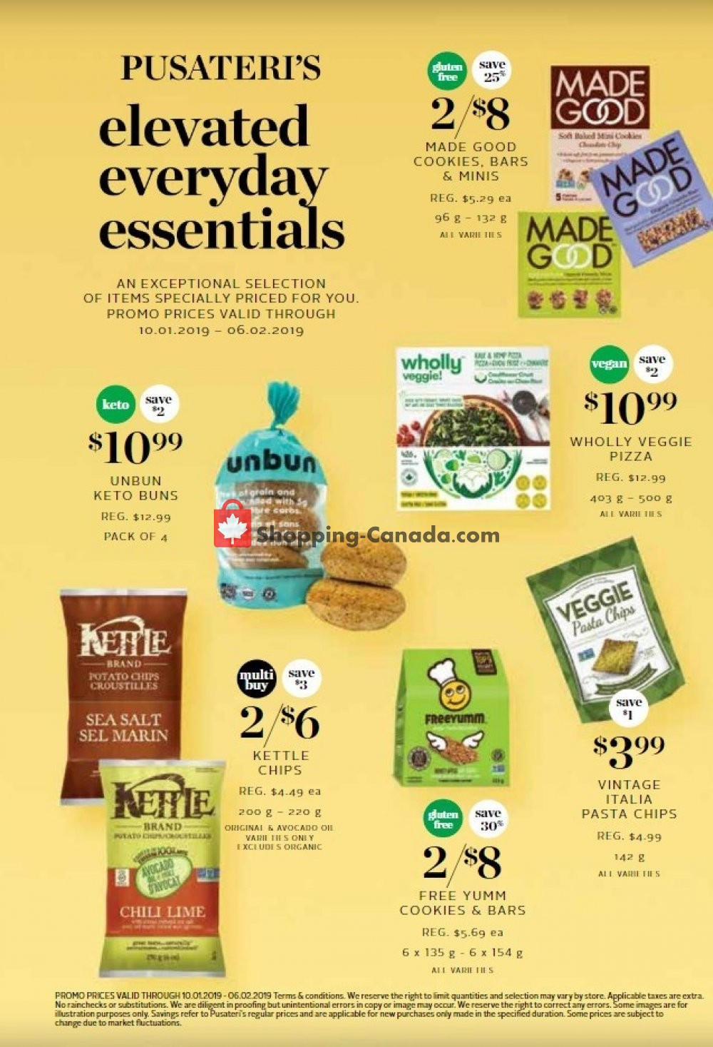 Flyer Pusateri's Fine Foods Canada - from Thursday January 10, 2019 to Wednesday February 6, 2019