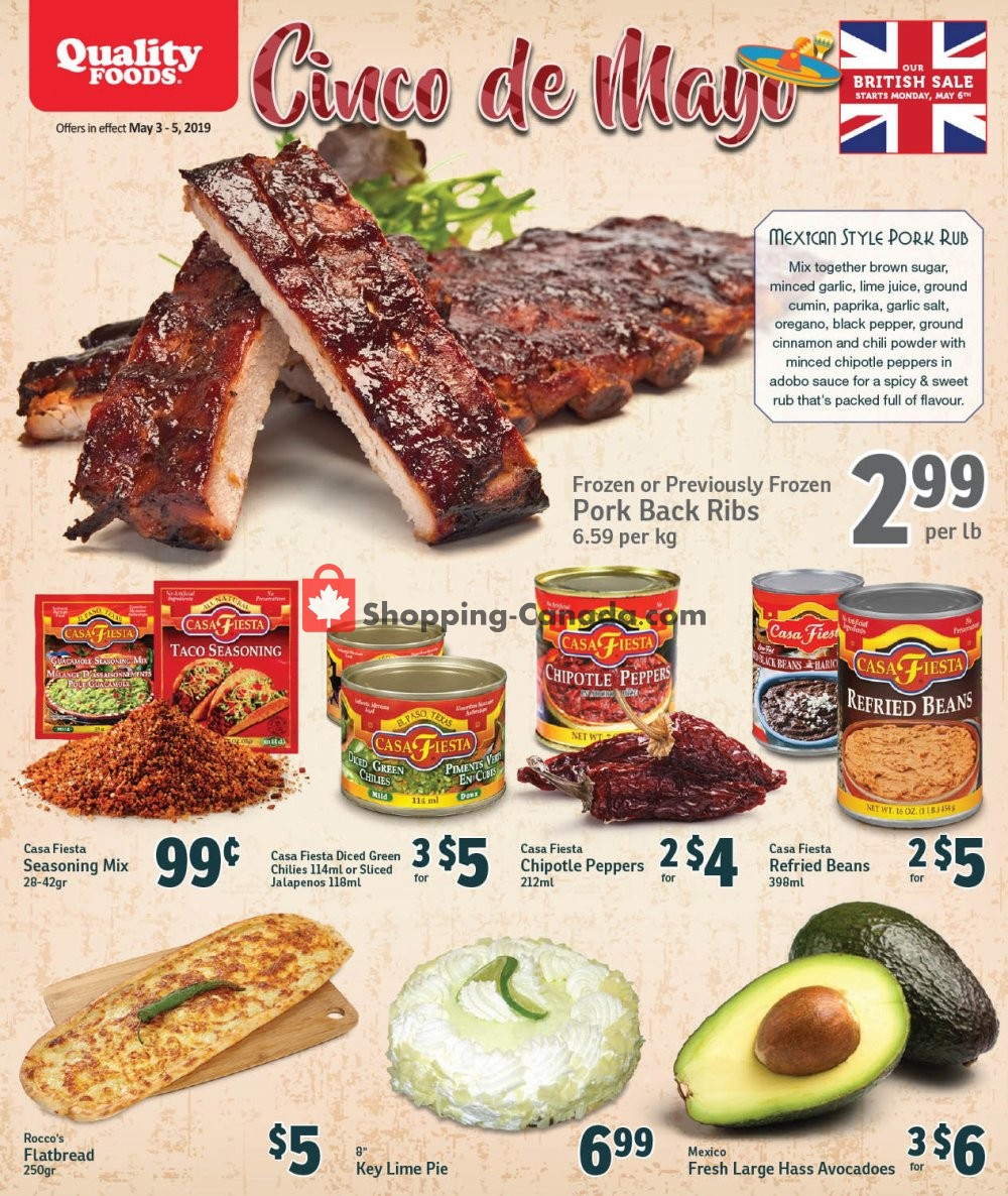 Flyer Quality Foods Canada - from Friday May 3, 2019 to Sunday May 5, 2019