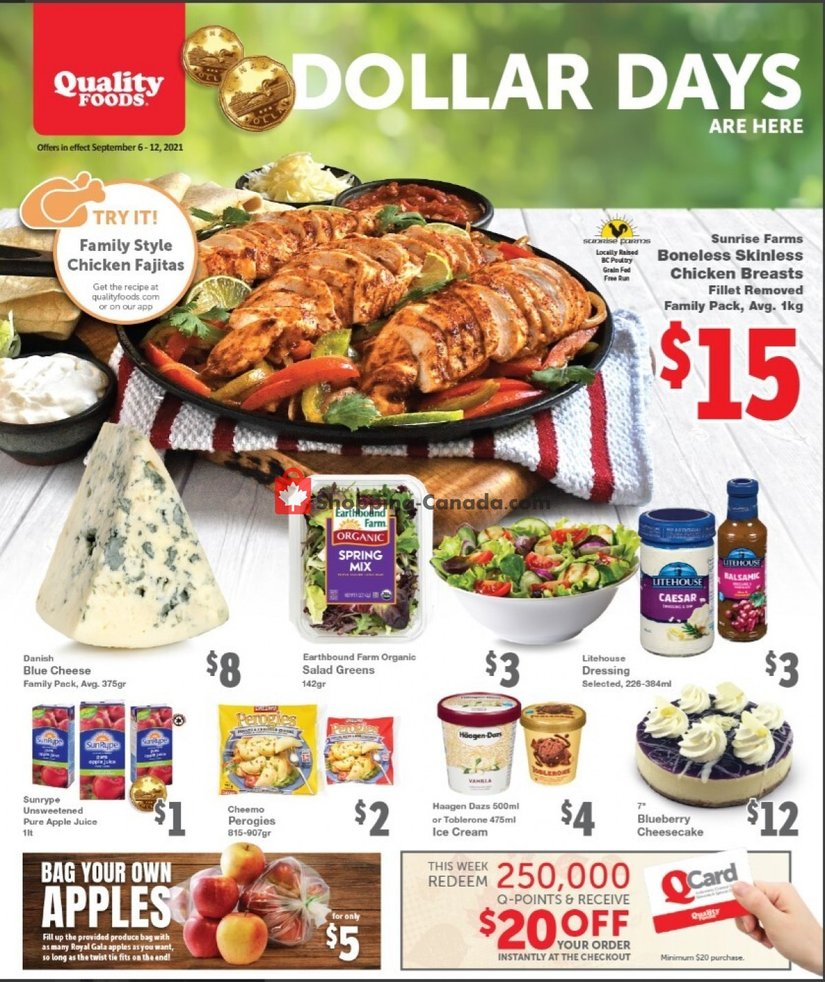 Flyer Quality Foods Canada - from Monday September 6, 2021 to Sunday September 12, 2021