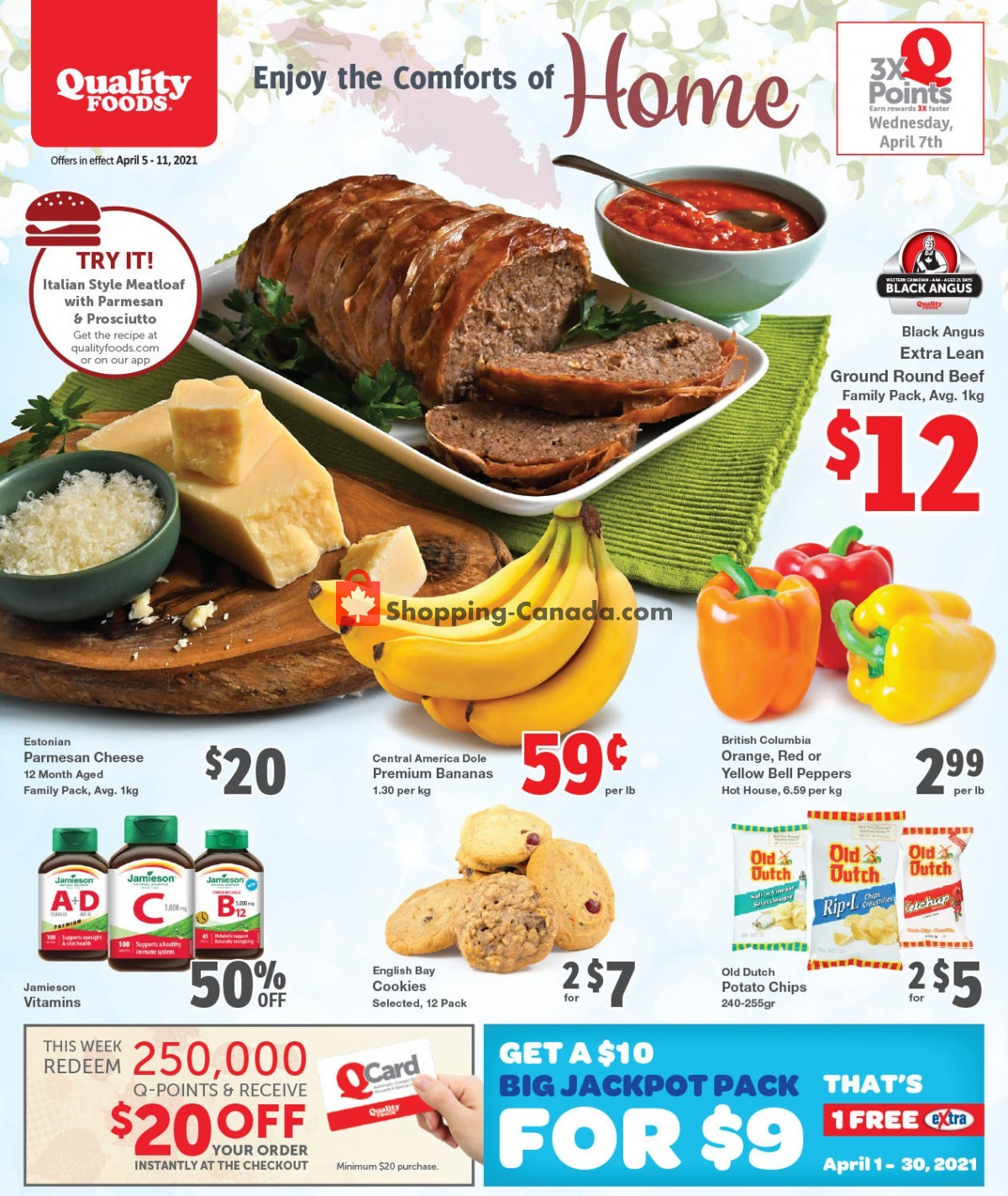Flyer Quality Foods Canada - from Monday April 5, 2021 to Sunday April 11, 2021