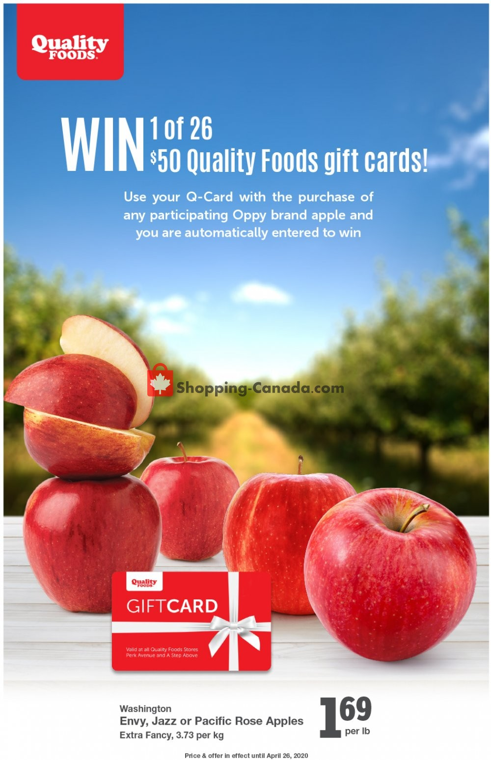 Flyer Quality Foods Canada - from Monday April 20, 2020 to Sunday April 26, 2020