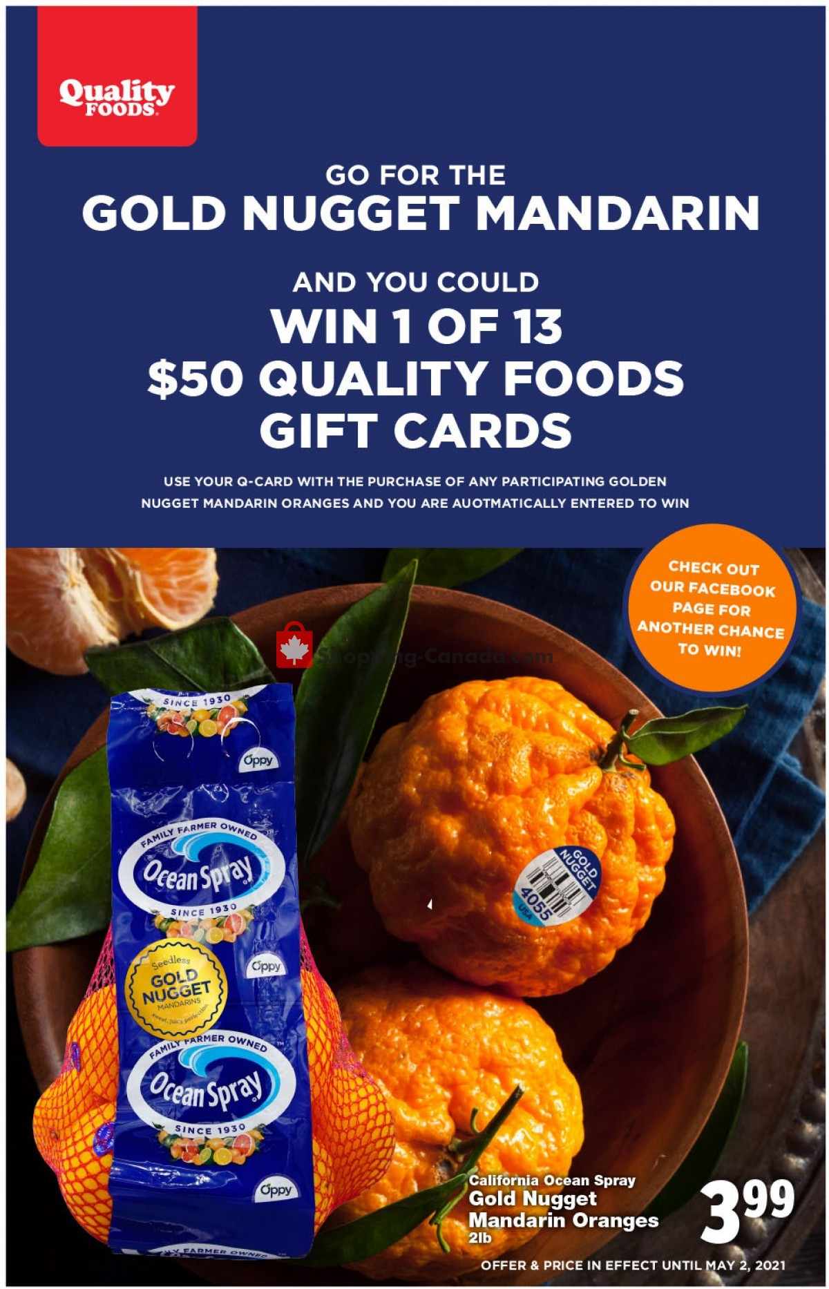 Flyer Quality Foods Canada - from Monday April 26, 2021 to Sunday May 2, 2021