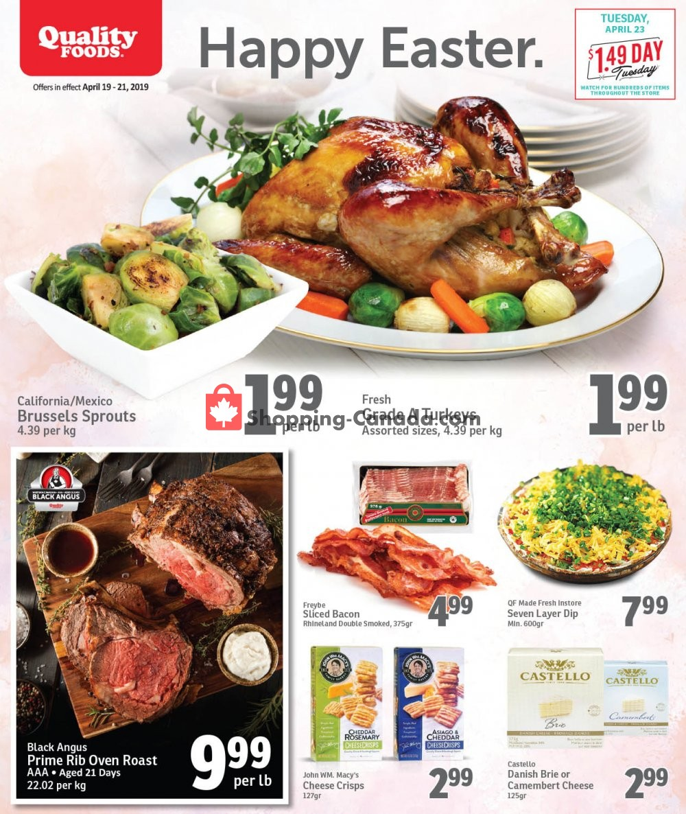 Flyer Quality Foods Canada - from Friday April 19, 2019 to Sunday April 21, 2019