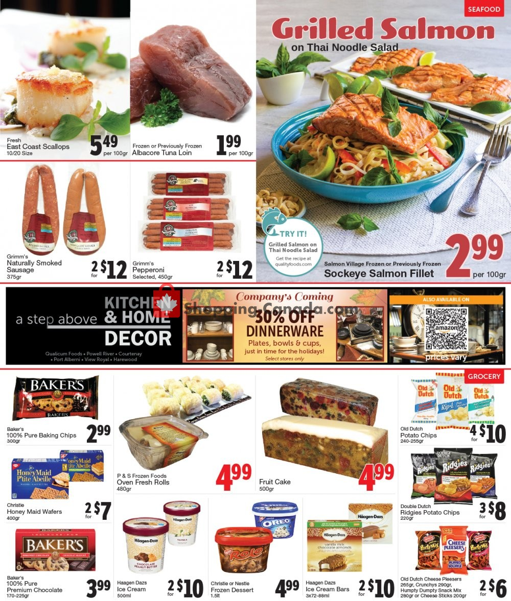 Flyer Quality Foods Canada - from Monday October 7, 2019 to Sunday October 13, 2019