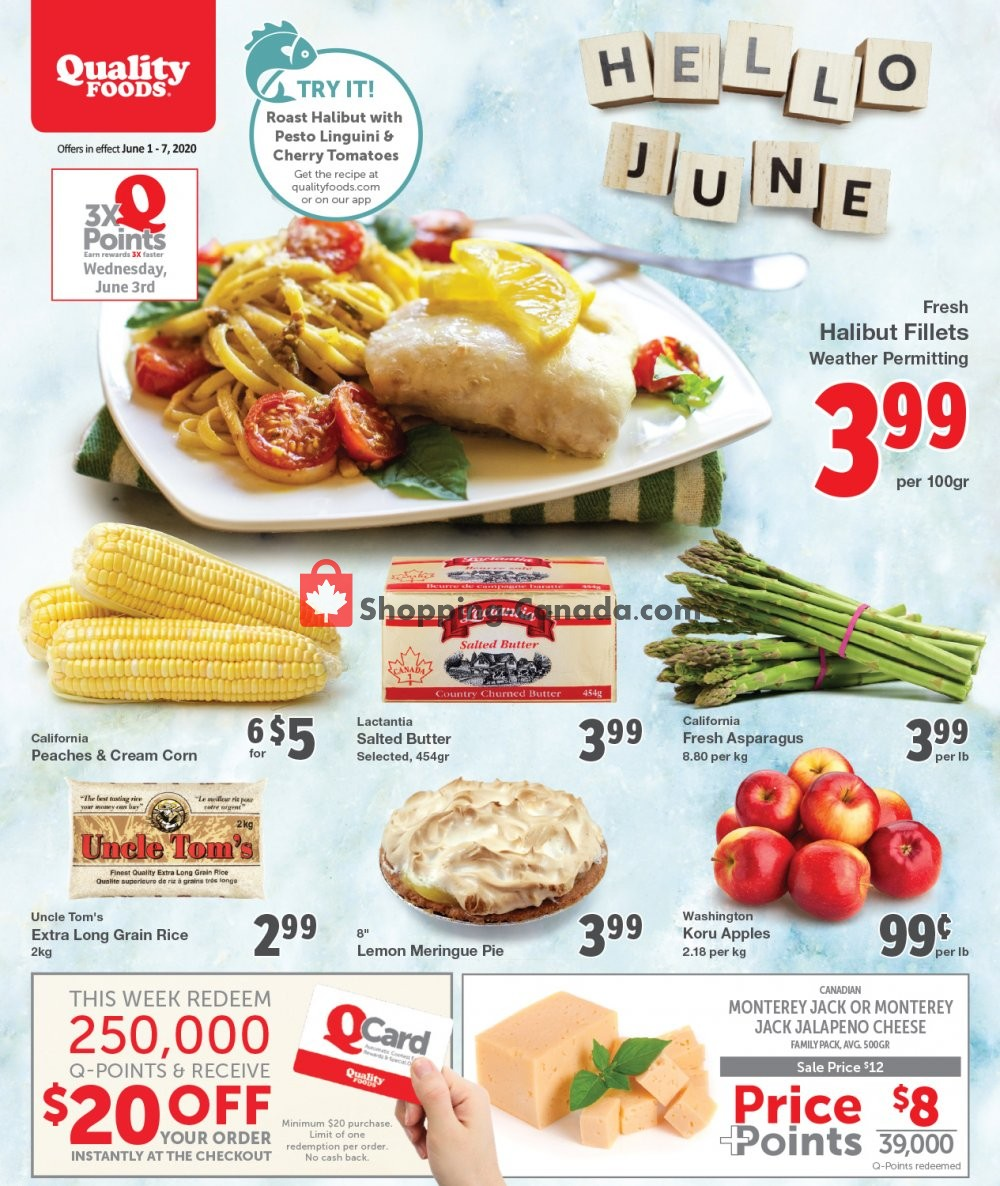 Flyer Quality Foods Canada - from Monday June 1, 2020 to Sunday June 7, 2020